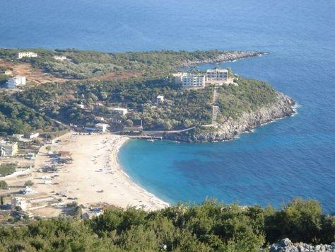 Albania Beaches Map Himara Albania Beach